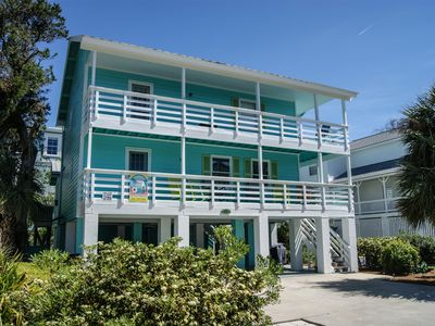 This is a free standing original home that is on the south side and steps to the Beach.