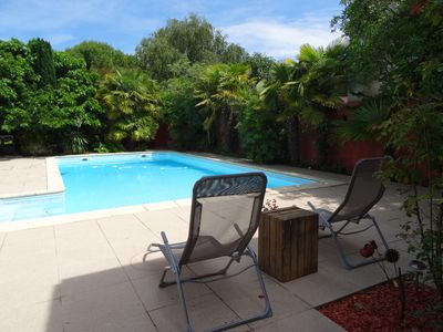 Photo for Guest house near downtown La Rochelle with heated pool