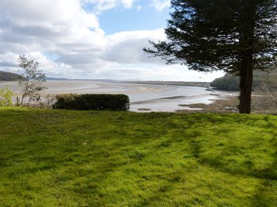 The fantastic view from the house across Laugharne Bay and 30 miles of coastline