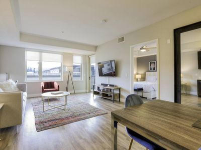 Photo for NEW! Modern and Cool 1BR with Pool + Balcony