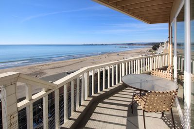 Patio - This oceanfront condo is professionally managed by TurnKey Vacation Rentals.