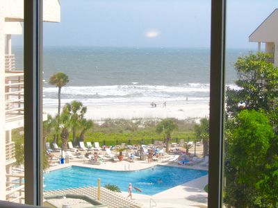 Actual Beach View From the Living Room Window!