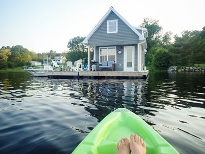 Photo for Floating Cottage on The LaHave River close to beaches, golf, on Lighthouse Route