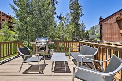 This inviting Frisco abode has mountain views, privacy, and top-notch decor!