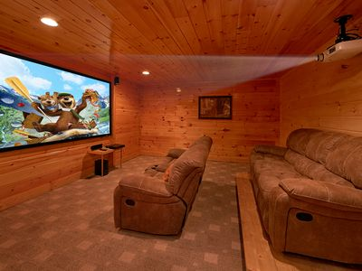 Photo for Luxury Cabin with Theater Room, 3 Decks, Pool Table and Hot Tub