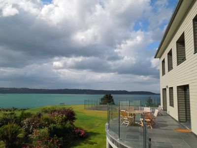Photo for House 100 meters beach. 180° sea view. Garden 15.000m². Tennis