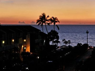 Lovely sunset views from the lanai