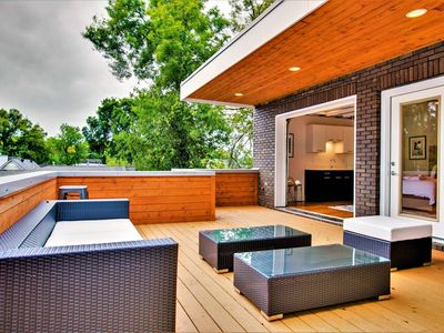 Photo for 3BR/3.5BA w/ Loft, Deck, & Ping Pong by Domio