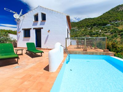 Photo for This 2-bedroom villa for up to 3 guests is located in Frigiliana and has a private swimming pool and