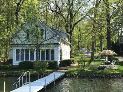Our Lake House viewed from the Dock
