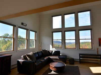 Photo for Spacious, contemporary loft overlooking stunning valley in Northern Vermont