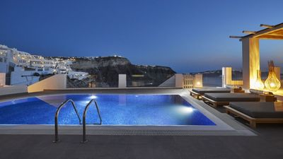 Photo for EXPERIENCE VARIETY. Afrodite Villa Santorini 2br upto 5guests private pool