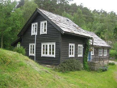 Photo for Cozy three-bedroom cottage located on a working farm by the stunning BjornaFjord