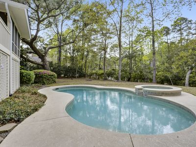 Photo for Lagoon Lookout HHI! 3 Bedroom 3 Bath home in Palmetto Dunes on Hilton Head with private pool!