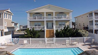 Photo for Oceanfront w/ heated pool by pier, Great fr Families. Book your Fall trip now!