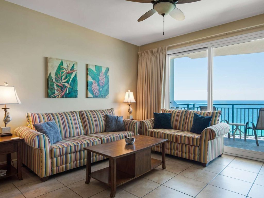 Gulf front 3 bdrm 3ba 15th floor minutes homeaway for 15th floor on 100 floors