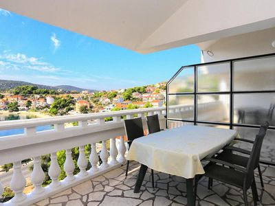 Photo for Two bedroom apartment with terrace and sea view Marina, Trogir (A-9037-f)