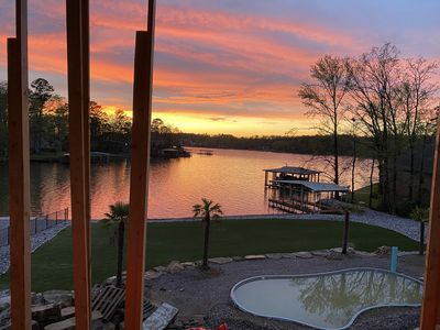 Photo for New 6bd Paradise!! Private pool on Lake Hamilton! Elevator & built for families!