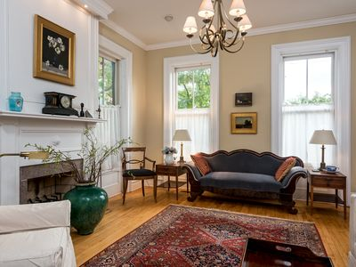 Photo for Sun-filled, elegant, spacious 3BR, 2BA  historic home in Downtown Hudson