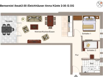 Photo for bsak2-30 dike houses Anna coast 2-30 - dike houses Anna coast 2-30