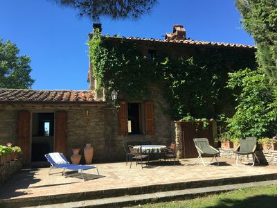 Photo for SLOW THE PACE 16th C. farmhouse w/ private pool amidst woodlands + olive groves