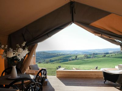 Photo for Country Escape in a luxe Tent with uninterrupted views
