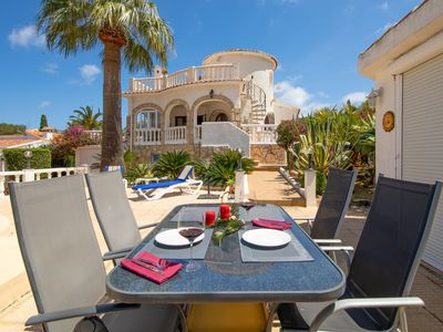 Photo for This 3-bedroom villa for up to 6 guests is located in Denia and has a private swimming pool, air-con