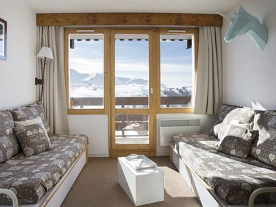 Photo for Belle Plagne, T2 renovated 3 crystals for 5 people, ski in ski out