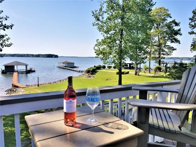 Photo for LAKE GASTON RETREAT WITH FLAT LOT AND SUNSET VIEWS!!!