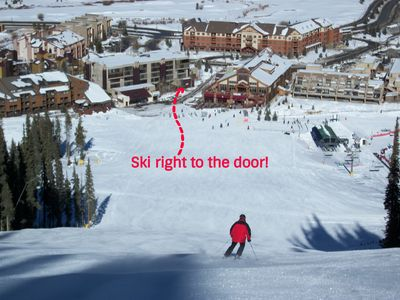 Ski right to the door!