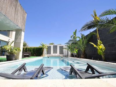 Photo for SON PUIG - Modern villa with private pool near Son Vida for 8 people, Mallorca. Chillout Terrace - Free Wifi