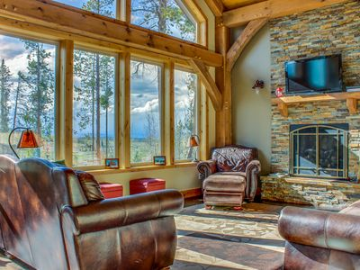 Photo for Secluded, custom-built home w/ views of Continental Divide!