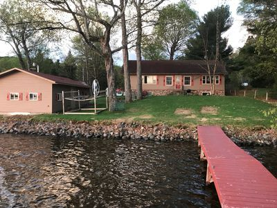 Photo for Vieux Desert Lake, 2 Level Home Sleeps 7+, Boat House and free kayak use