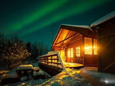 Photo for GOLDEN CIRCLE CABIN With NEW Hot tub, free wifi and Northern lights
