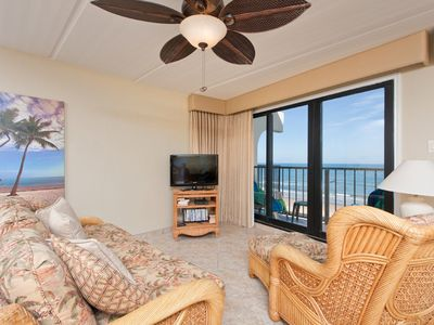 Photo for Florence II 403 - Spacious Oceanfront Condo, Private Balcony, Beachfront Pool & Spa, Direct Ocean Access