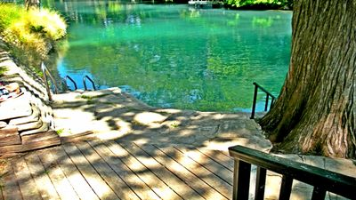 the pristine Comal river is just steps from the condo