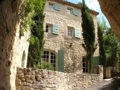Photo for A Provencal village house within walking distance of shops and restaurants.