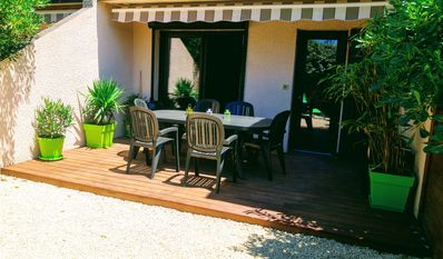 Photo for Charming patio villa 500m from the ocean