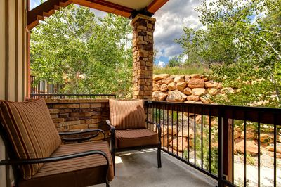 Private Balcony with Seating Views and BBQ