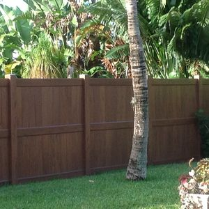 Back yard with private fencing.