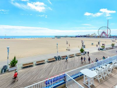 Photo for Fabulous Large Ocean Front Condo located on the OC boardwalk close to Amusement Pier
