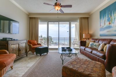 "Tides 204 Living Room - ""TRANQUILITY""-TOPS'L RESORT 