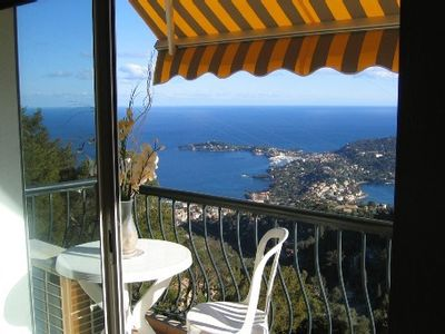 Photo for Independent apartment in villa,panoramic view on the cap ferrat and beaulieu