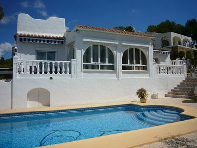 Photo for Luxury villa in a perfect location with sea views and pool