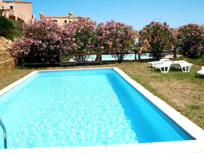 Photo for Beautiful apartment for 8 guests with private pool, TV, balcony and pets allowed