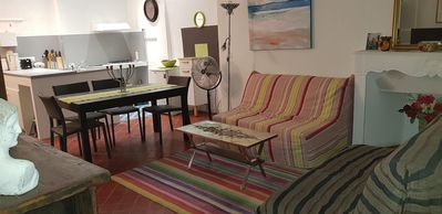 Photo for Uzès city center apartment 74 m2, bright, with Internet Box and wifi