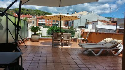 Photo for Five-person apartment, 50m2 terrace, private parking, 200 m from the sea, center 50 m