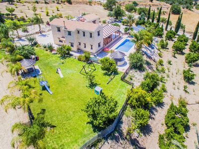 Photo for 4bdr Family friendly villa with 400sq.m. playground,private heated swimming pool