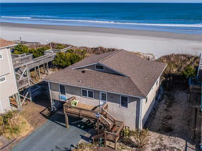 Photo for FOUR BY THE SHORE: 4 BR / 2 BA oceanfront in Topsail Beach, Sleeps 8