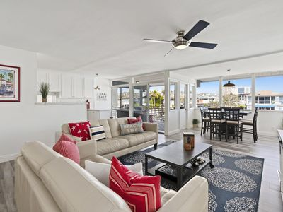Photo for Upstairs Bayfront Home, Short Walk to Beach